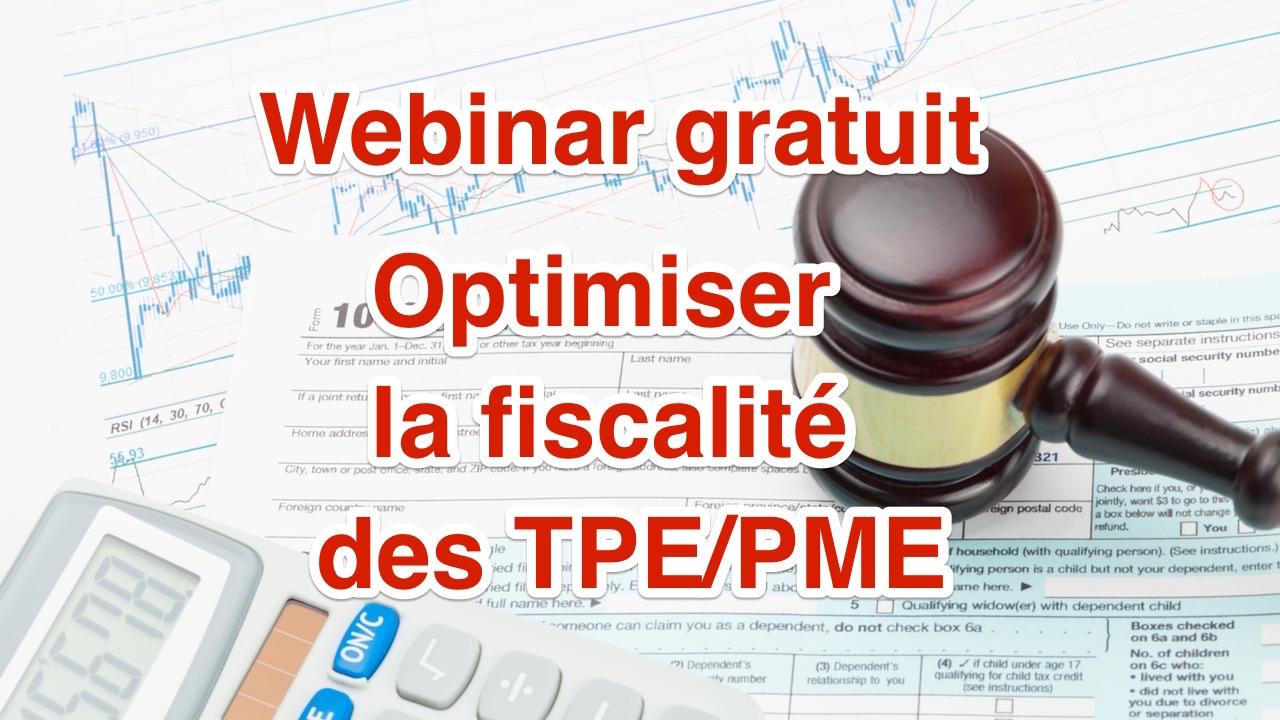 Webinar fiscalité entreprises