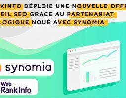 Partenariat technologique WebRankInfo Synomia