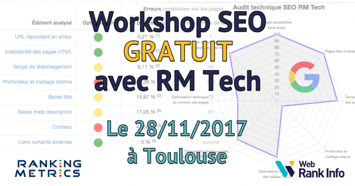 Workshop SEO gratuit à Toulouse