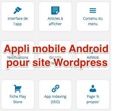 Appli mobile Android Wordpress