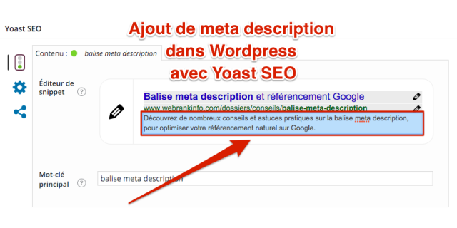 Meta description wordpress SEO yoast