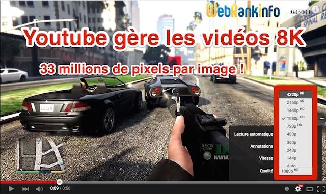 Youtube vidéos 8k