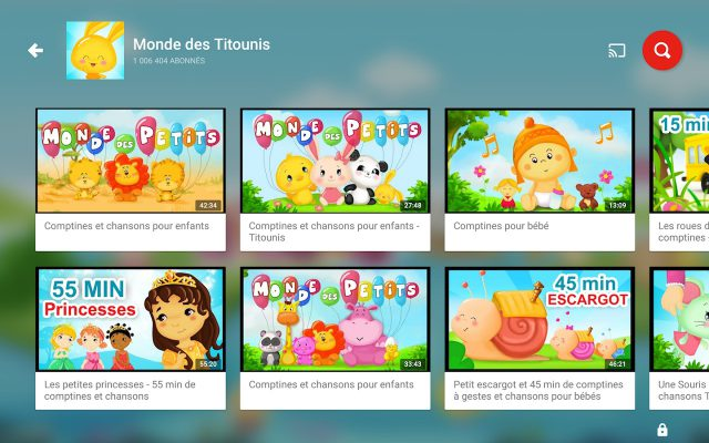Chaine YouTube Kids
