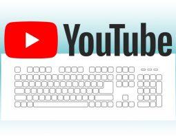 Liste des raccourcis clavier de YouTube
