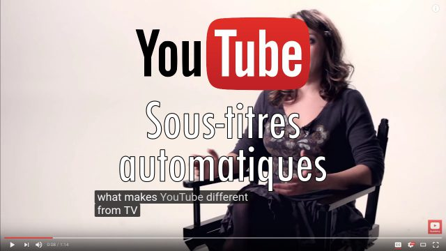 Sous-titre automatique YouTube