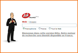 Ask Jeeves disponible en France sur fr.ask.com