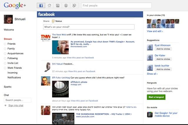 Ajouter onglet Facebook dans Google+
