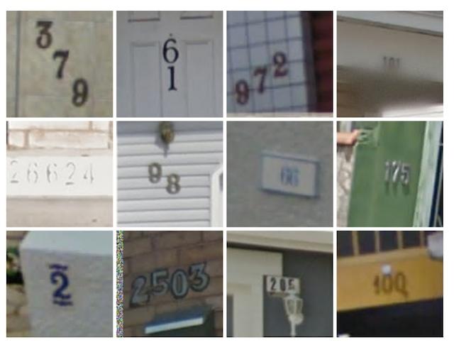 Plaques numéros de maisons dans Street View