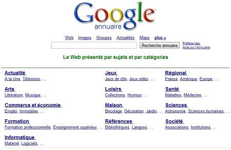 Annuaire Google