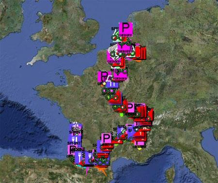 Tour de France Google Earth