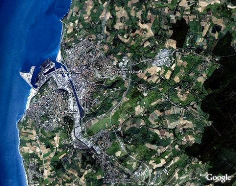 Image satellite dans Google Earth