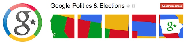 Google Elections sur Google Plus