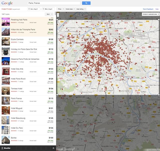 Google hotel finder le comparateur pour trouver le for Meilleur site comparateur hotel