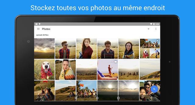 stockage de photos et vidéos sur le cloud de Google Photos