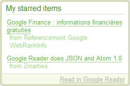 Clip dans Google Reader