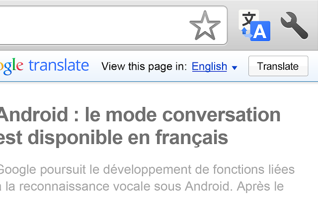 Extension Chrome Google Traduction