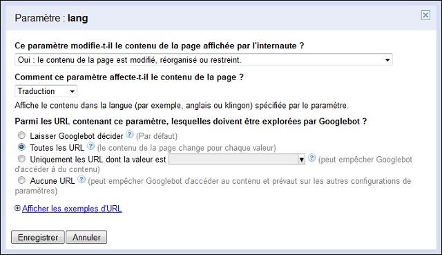 Configurer le crawl sur un site multilingue
