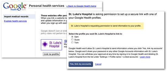 Importer des données vers Google Health