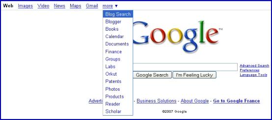 Nouvelle page d'accueil Google