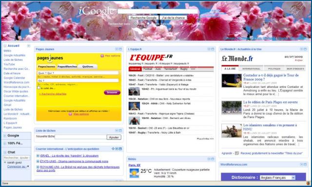 iGoogle v2 (juillet 2009)