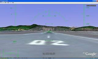 Piste de décolage de Kathmandu dans Google Earth Flight Simulator