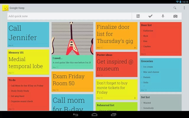 Appli Google Keep