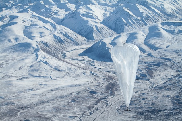 Ballon Google Loon en vol