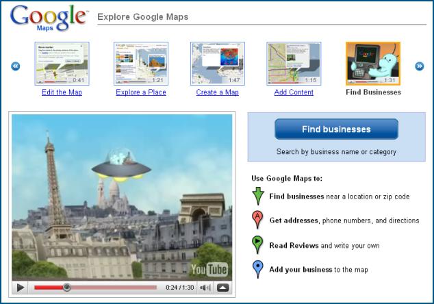 Google Maps en chiffres (2008)