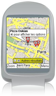 Maps pour Mobiles