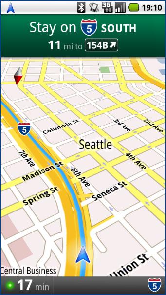 Google Maps Navigation: affichage 3D