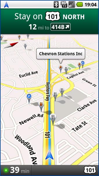 Google Maps Navigation : recherches populaires