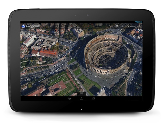 Google Earth sur Nexus 10