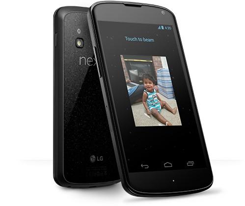 Android Beam sur Nexus 4