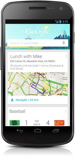 Google Now sur smartphone