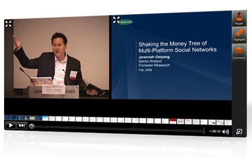 Synchronisation de la vidéo avec des slides par Omnisio