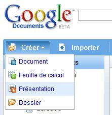 Créer une présentation Google