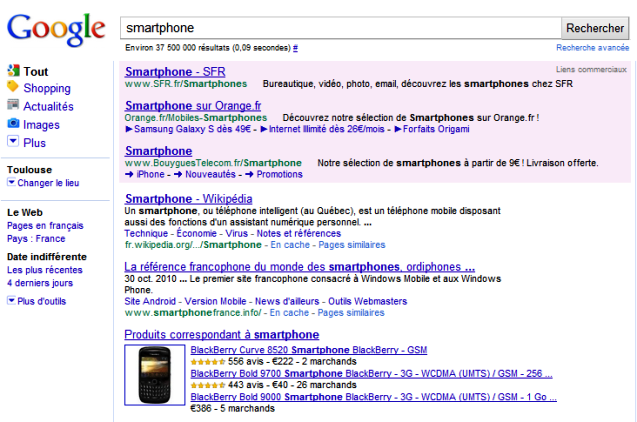 Google Shopping et Universal Search
