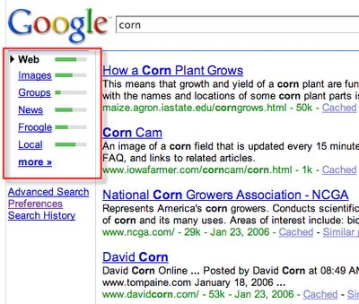 Nouvelle interface des pages de Google