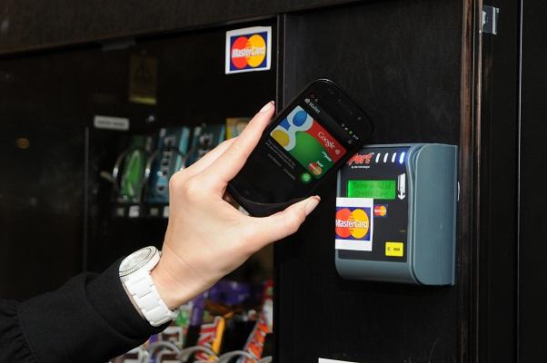 Google Wallet avec un distributeur de boissons