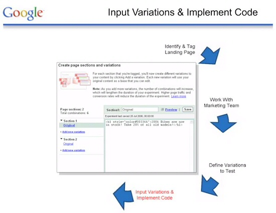 Démonstration de l'Optimiseur de Site de Google: 4
