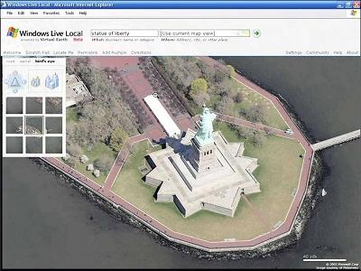 Statue de la Liberté dans Windows Live Local