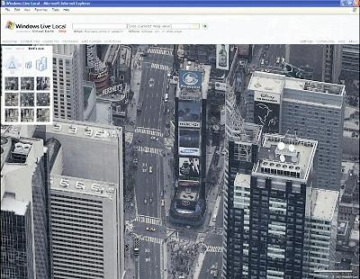 Times Square dans Windows Live Local