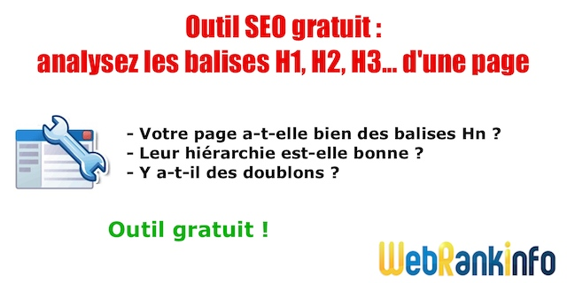 Outil analyse balises titres H1 H2 H3 H4 H5 H6