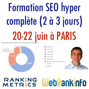 Formation SEO Ranking Metrics Paris