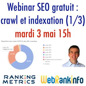 Webinar SEO Crawl et Indexation