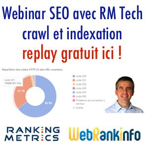 Webinaire SEO Crawl et Indexation