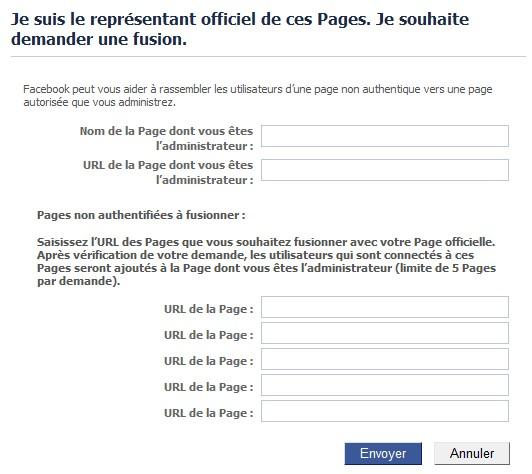 Fusion de pages Facebook: tutoriel