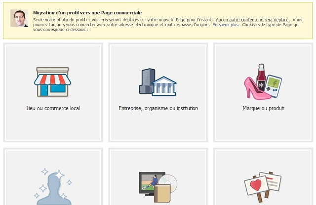 Convertir une page perso Facebook en page professionnelle