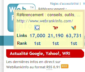 Extension SEO Links pour Firefox