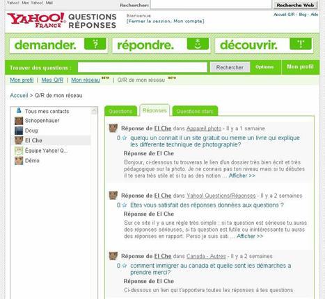 Yahoo! Questions/Réponses veut développer les réseaux de connaissances